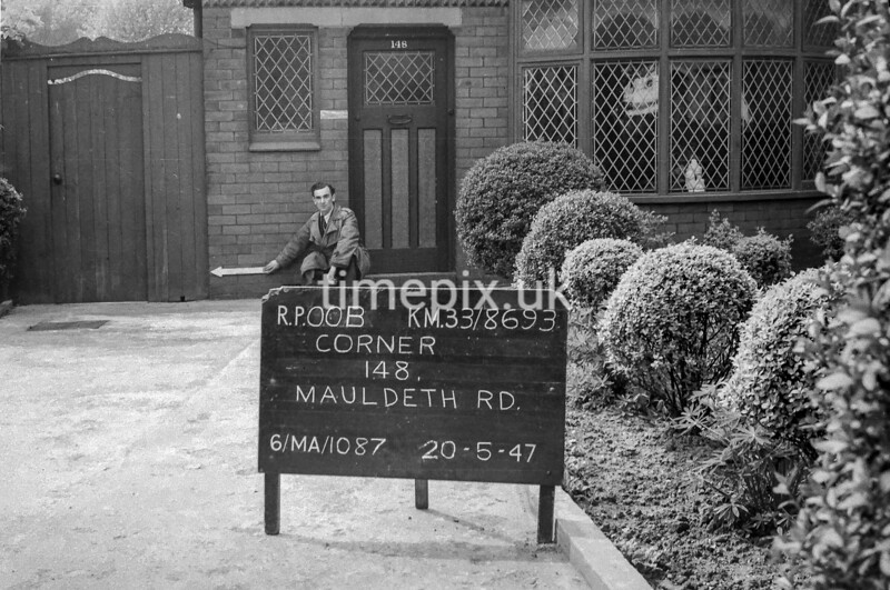 SJ869300B, Ordnance Survey Revision Point photograph in Greater Manchester