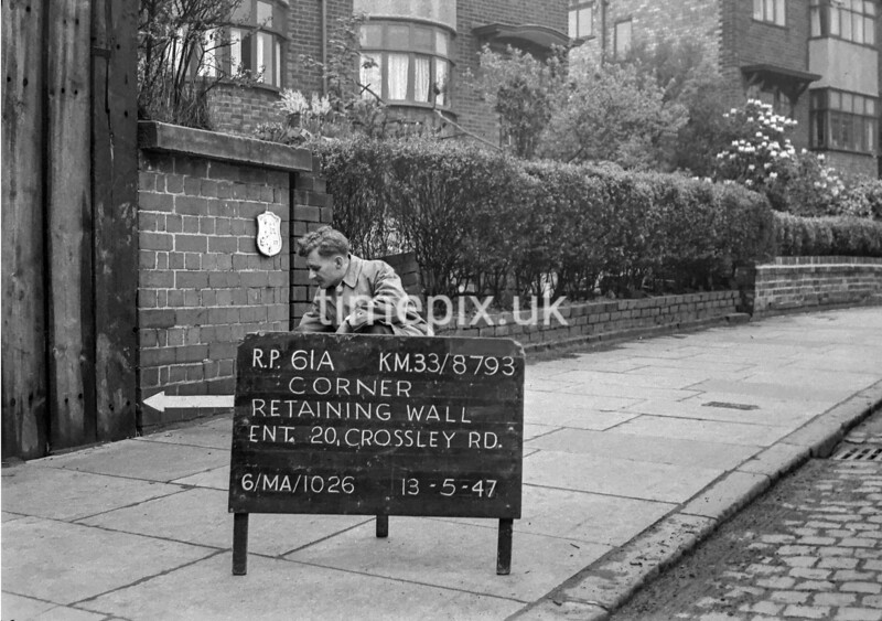 SJ879361A, Ordnance Survey Revision Point photograph in Greater Manchester