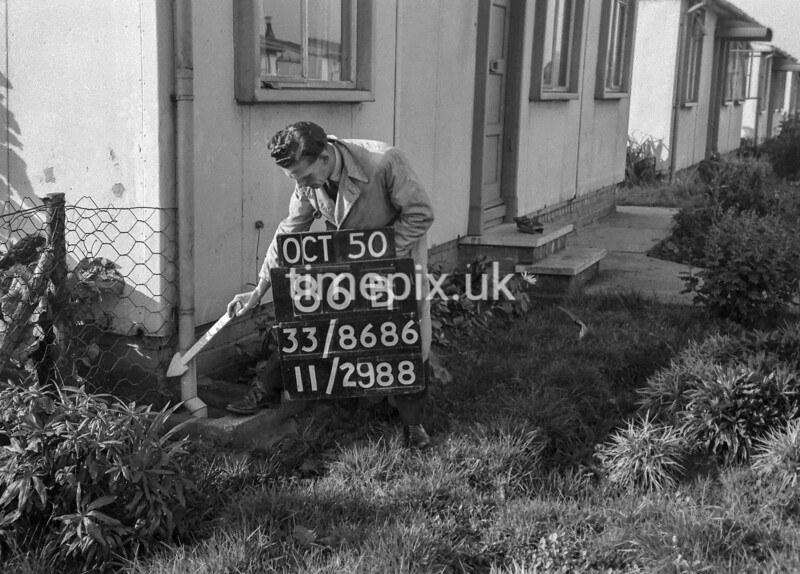SJ868686B, Ordnance Survey Revision Point photograph in Greater Manchester