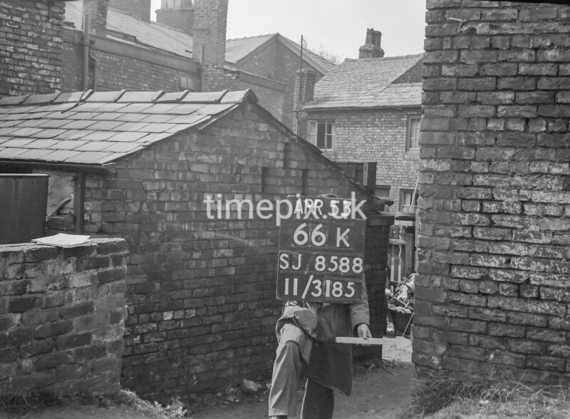 SJ858866K, Ordnance Survey Revision Point photograph in Greater Manchester