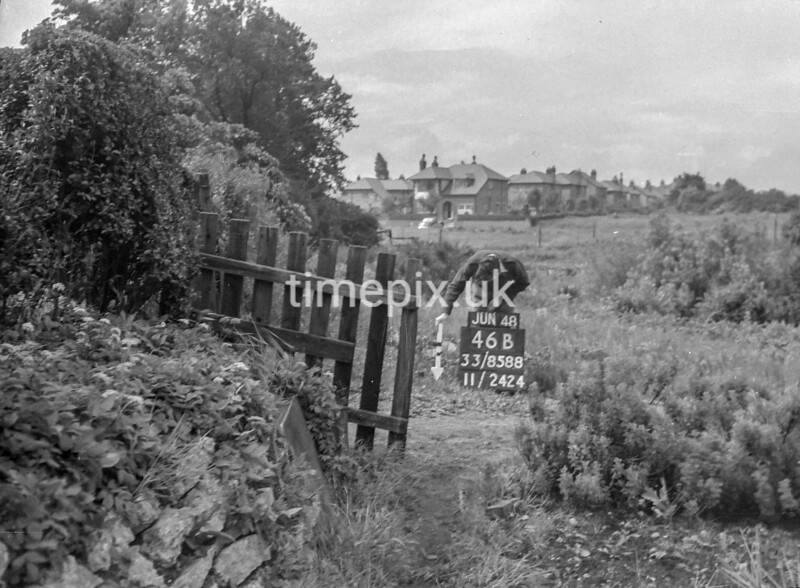 SJ858846B, Ordnance Survey Revision Point photograph in Greater Manchester