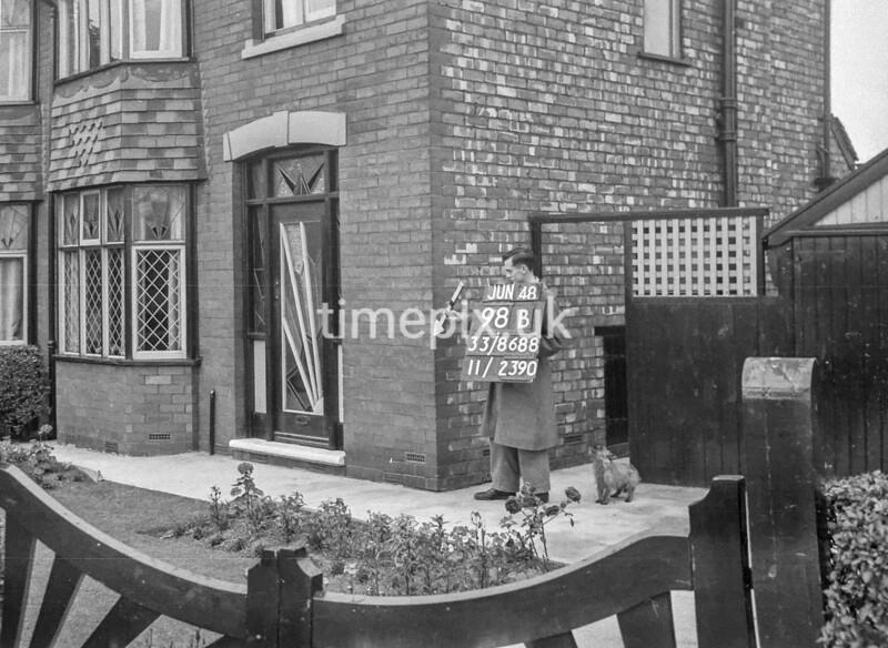 SJ868898B, Ordnance Survey Revision Point photograph in Greater Manchester