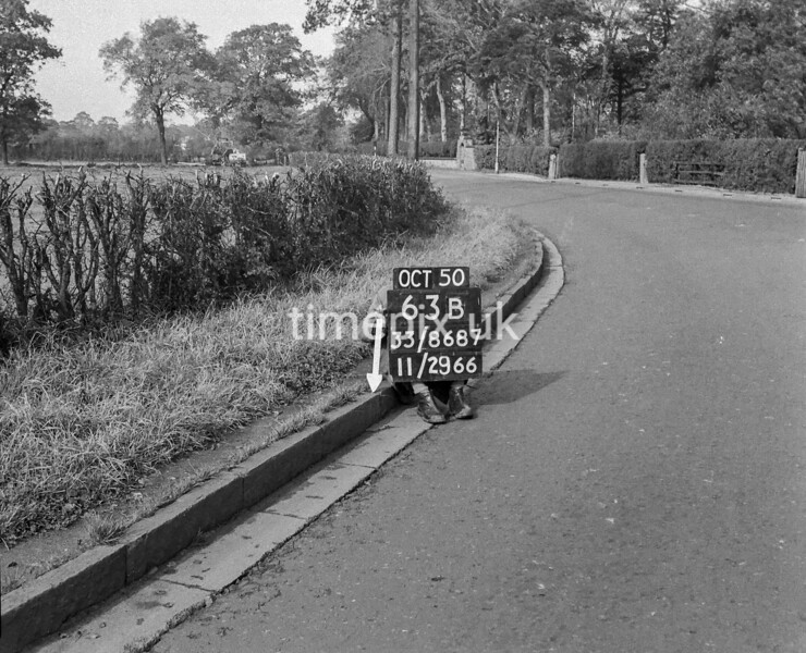SJ868763B, Ordnance Survey Revision Point photograph in Greater Manchester