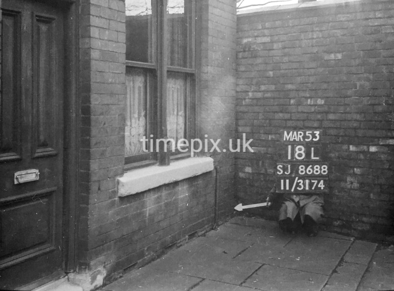 SJ868818L, Ordnance Survey Revision Point photograph in Greater Manchester