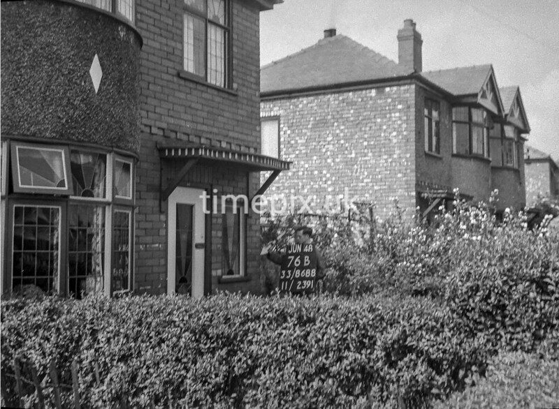 SJ868876B, Ordnance Survey Revision Point photograph in Greater Manchester