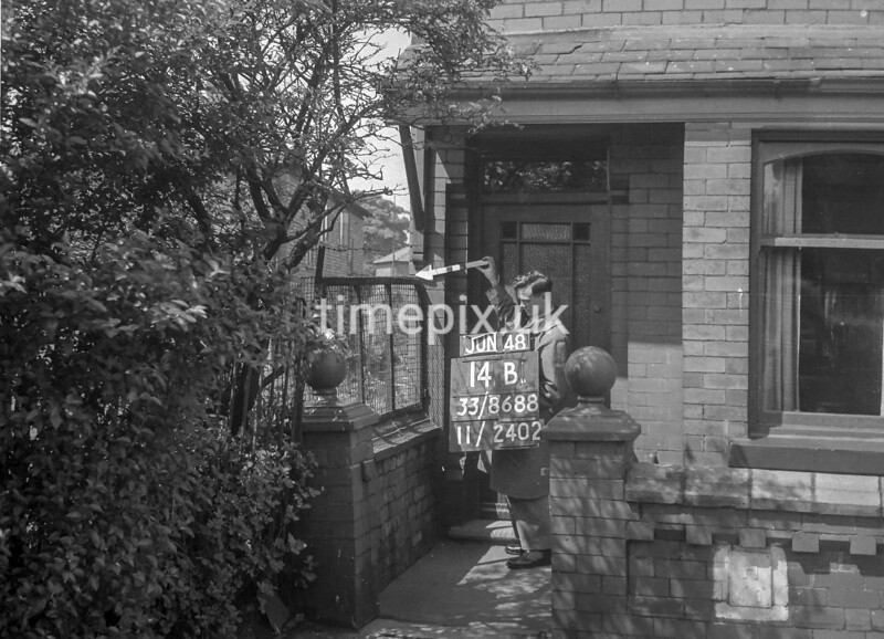 SJ868814B, Ordnance Survey Revision Point photograph in Greater Manchester