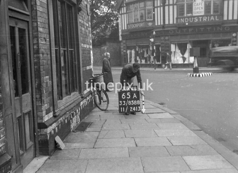 SJ858865A, Ordnance Survey Revision Point photograph in Greater Manchester