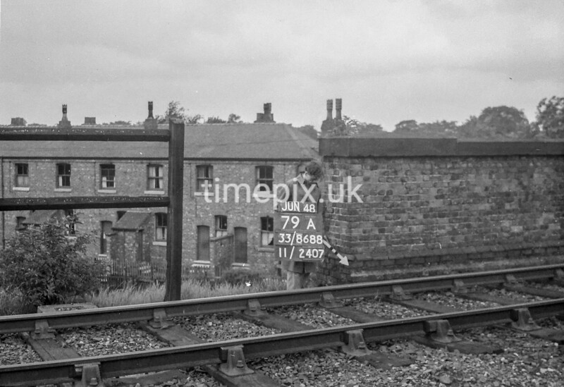 SJ868879A, Ordnance Survey Revision Point photograph in Greater Manchester