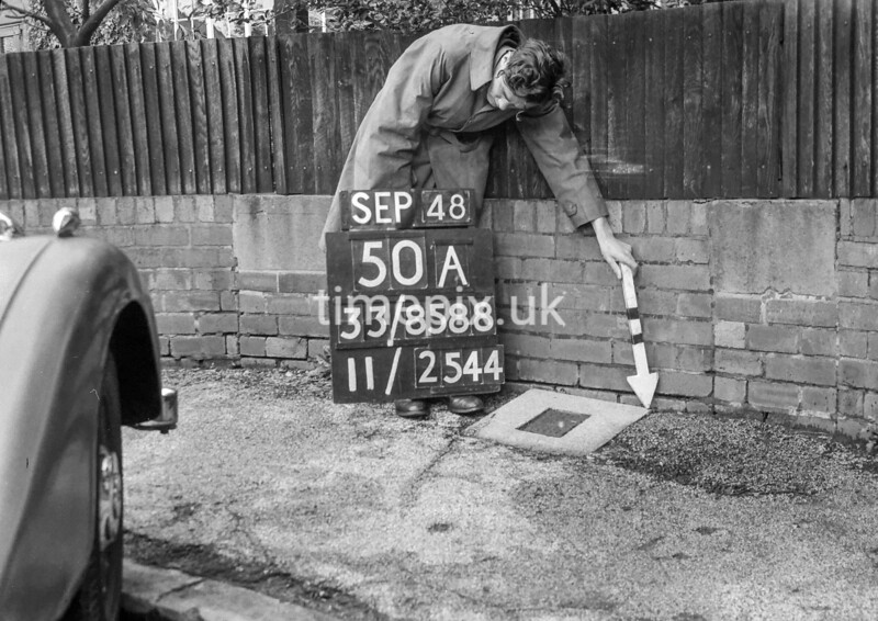 SJ858850A, Ordnance Survey Revision Point photograph in Greater Manchester