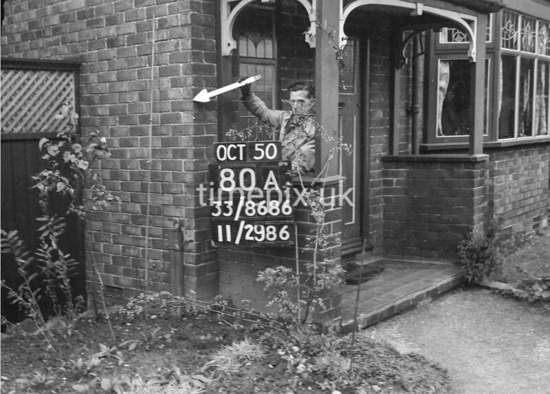SJ868680A, Ordnance Survey Revision Point photograph in Greater Manchester