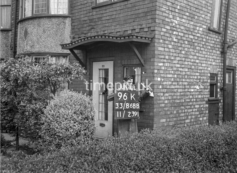 SJ868896K, Ordnance Survey Revision Point photograph in Greater Manchester
