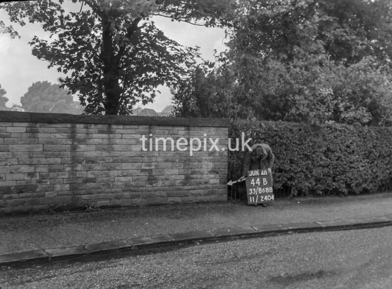 SJ868844B, Ordnance Survey Revision Point photograph in Greater Manchester