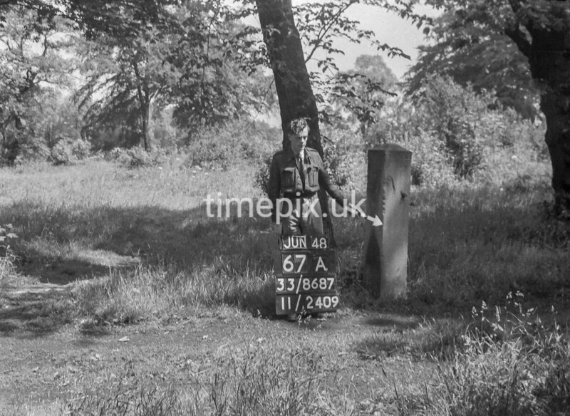 SJ868767A, Ordnance Survey Revision Point photograph in Greater Manchester
