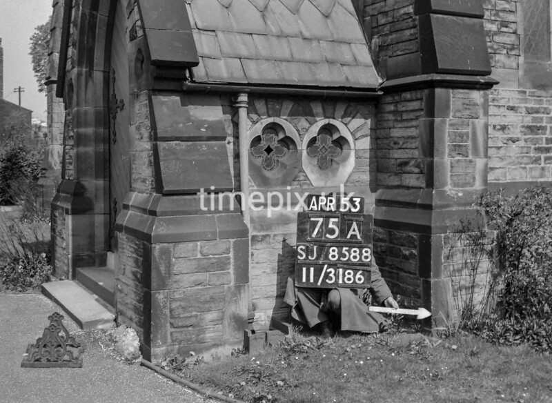 SJ858875A, Ordnance Survey Revision Point photograph in Greater Manchester
