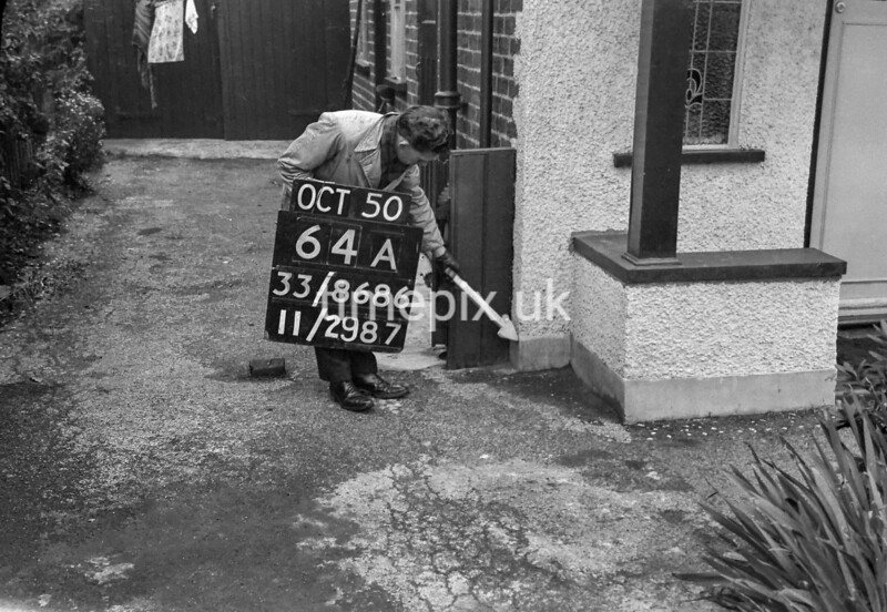SJ868664A, Ordnance Survey Revision Point photograph in Greater Manchester
