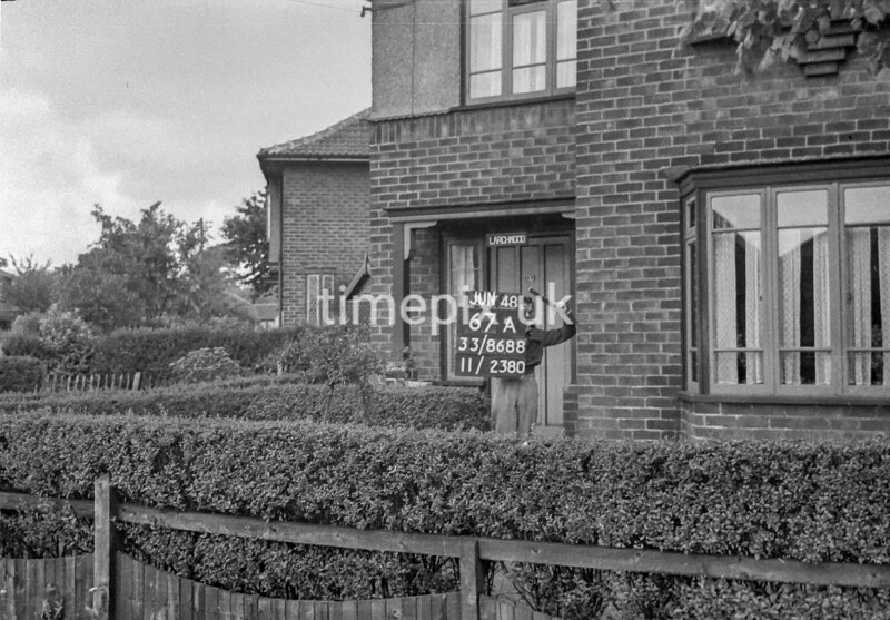 SJ868867A, Ordnance Survey Revision Point photograph in Greater Manchester
