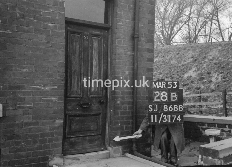 SJ868828B, Ordnance Survey Revision Point photograph in Greater Manchester