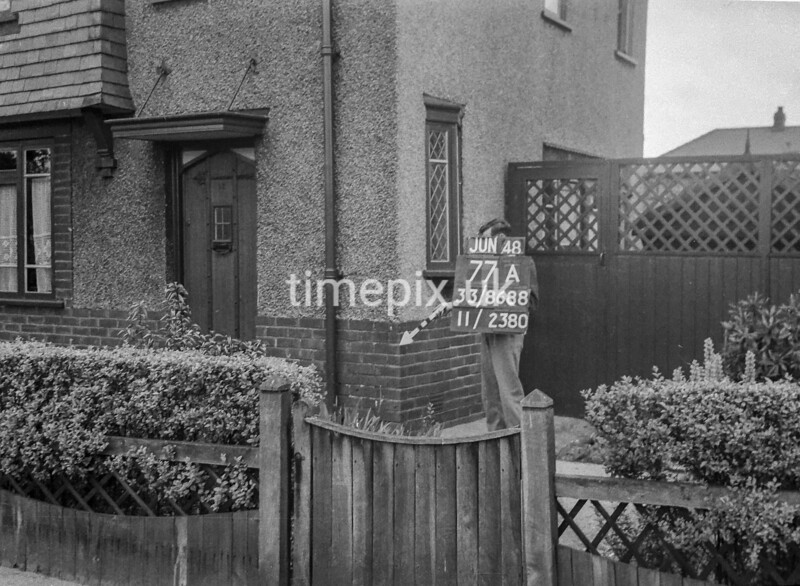 SJ868877A, Ordnance Survey Revision Point photograph in Greater Manchester