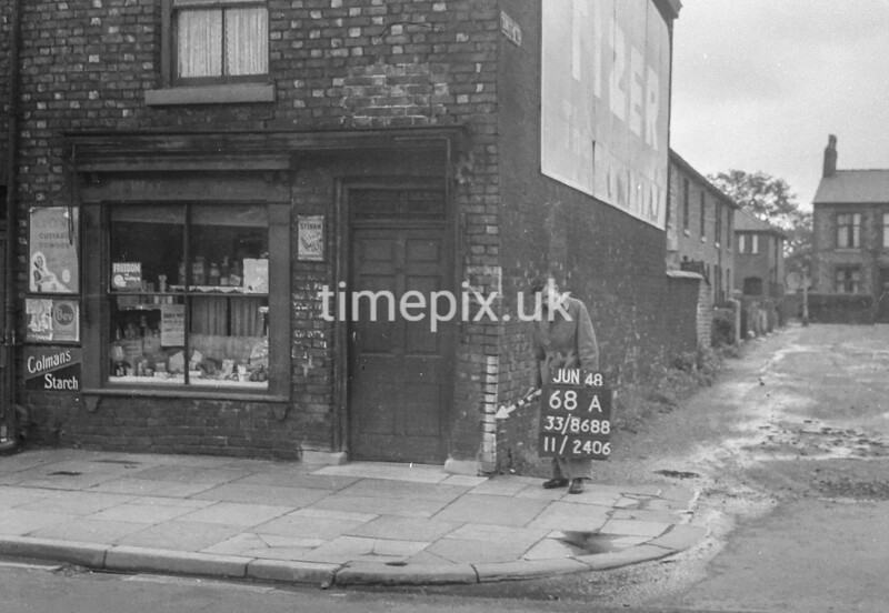 SJ868868A, Ordnance Survey Revision Point photograph in Greater Manchester