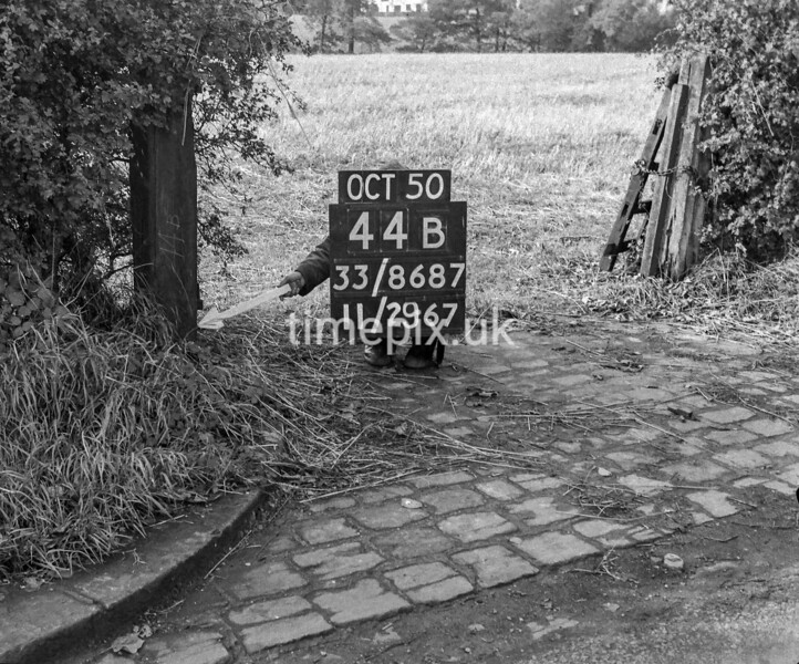 SJ868744B, Ordnance Survey Revision Point photograph in Greater Manchester