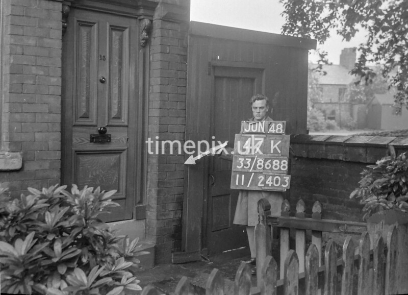 SJ868847K, Ordnance Survey Revision Point photograph in Greater Manchester