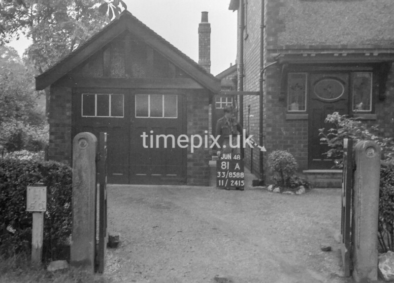 SJ858881A, Ordnance Survey Revision Point photograph in Greater Manchester