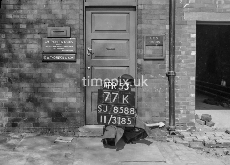 SJ858877K, Ordnance Survey Revision Point photograph in Greater Manchester