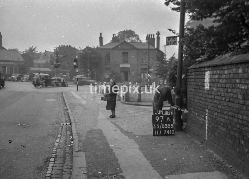 SJ858897A, Ordnance Survey Revision Point photograph in Greater Manchester