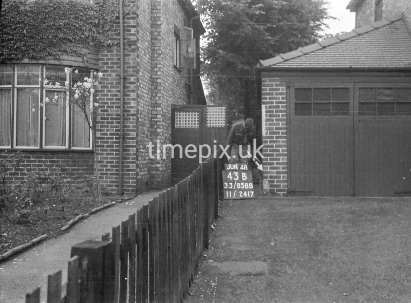 SJ858843B, Ordnance Survey Revision Point photograph in Greater Manchester