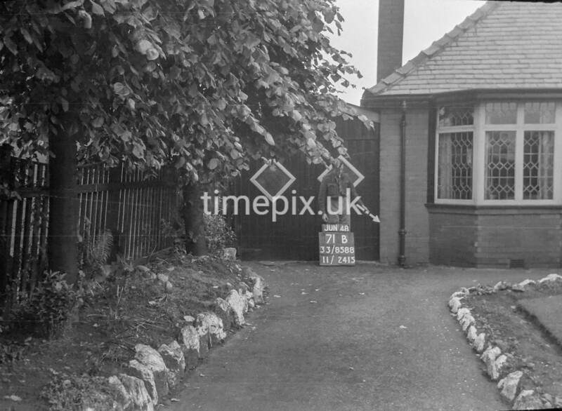 SJ858871B, Ordnance Survey Revision Point photograph in Greater Manchester