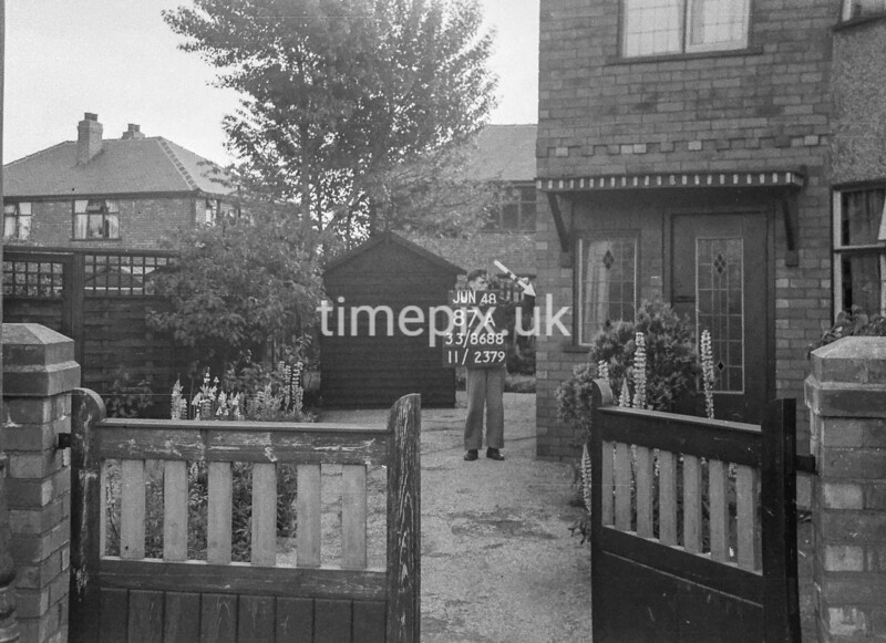 SJ868887A, Ordnance Survey Revision Point photograph in Greater Manchester