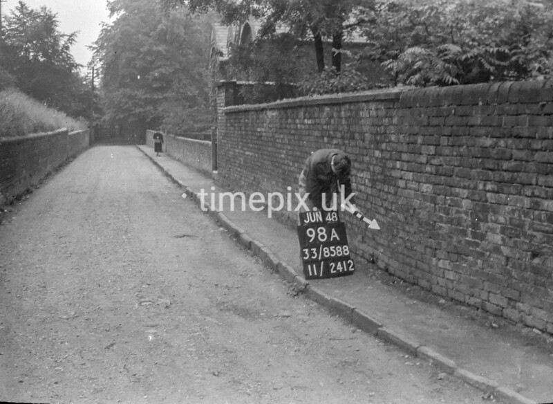 SJ858898A, Ordnance Survey Revision Point photograph in Greater Manchester