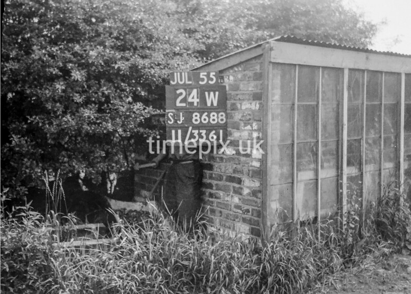 SJ868824W, Ordnance Survey Revision Point photograph in Greater Manchester