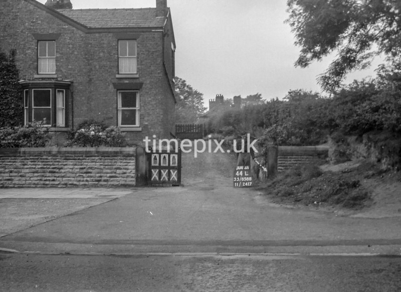 SJ858844L, Ordnance Survey Revision Point photograph in Greater Manchester