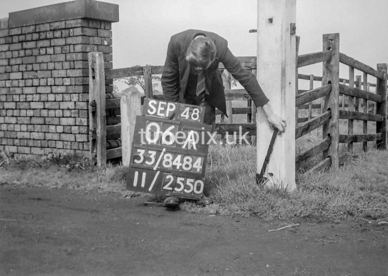 SJ848406A, Ordnance Survey Revision Point photograph in Greater Manchester