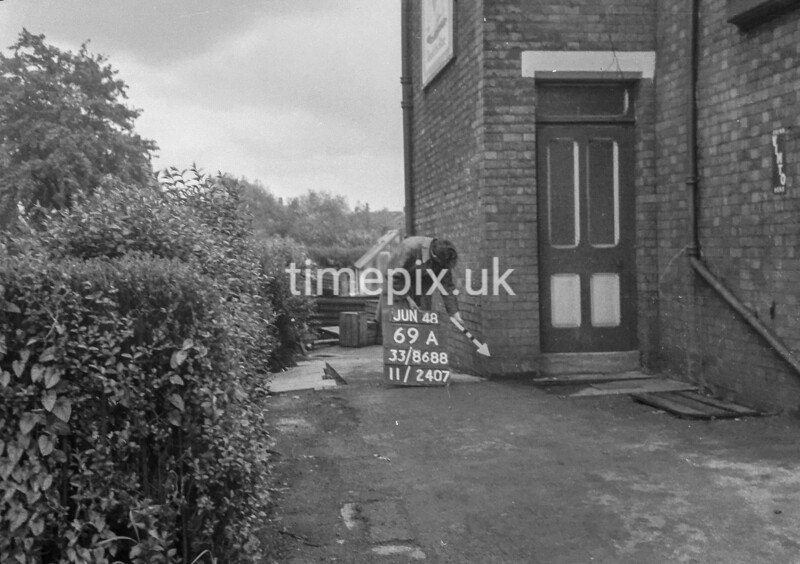 SJ868869A, Ordnance Survey Revision Point photograph in Greater Manchester
