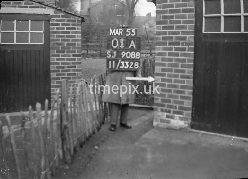 SJ908801A, Ordnance Survey Revision Point photograph in Greater Manchester