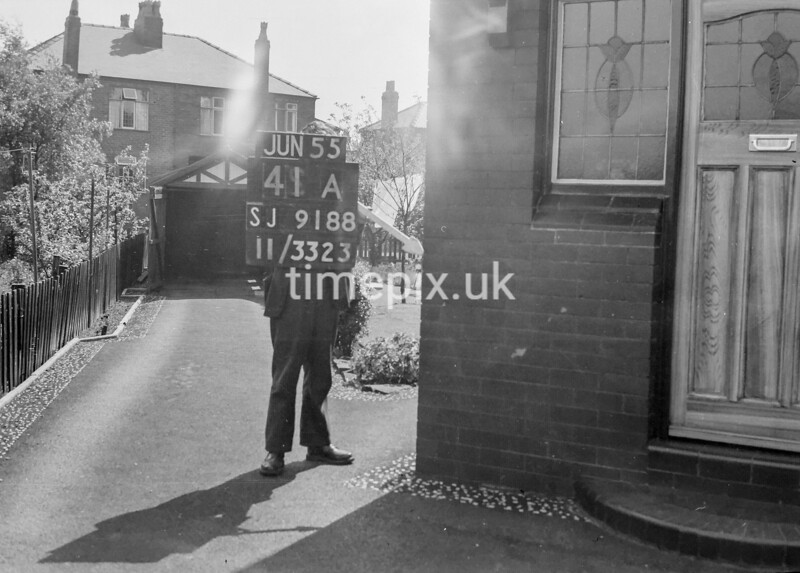 SJ918841A, Ordnance Survey Revision Point photograph in Greater Manchester