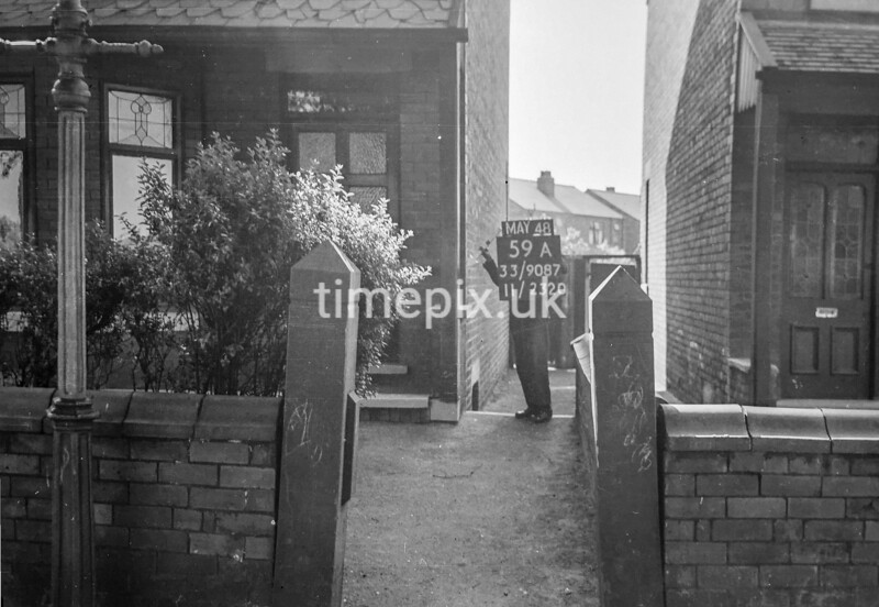 SJ908759A, Ordnance Survey Revision Point photograph in Greater Manchester