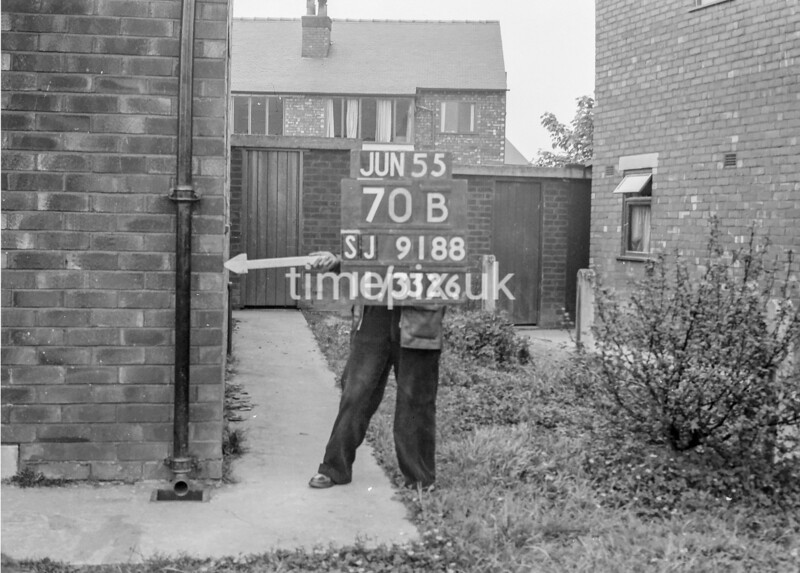 SJ918870B, Ordnance Survey Revision Point photograph in Greater Manchester