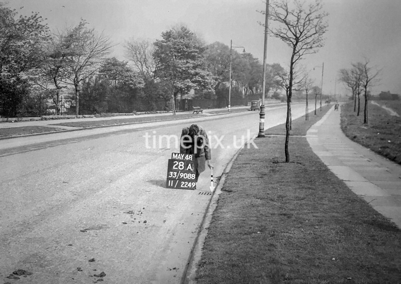 SJ908828A, Ordnance Survey Revision Point photograph in Greater Manchester