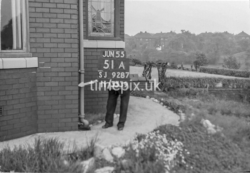 SJ928751A, Ordnance Survey Revision Point photograph in Greater Manchester