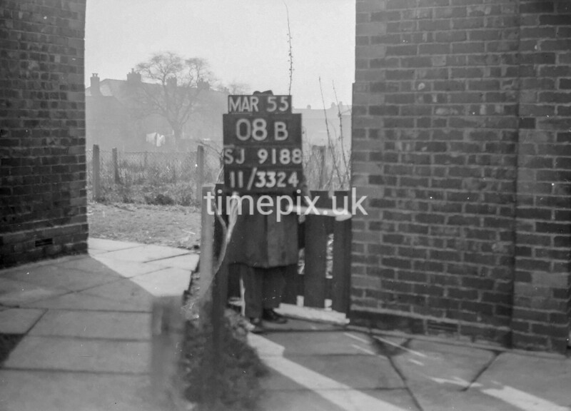 SJ918808B, Ordnance Survey Revision Point photograph in Greater Manchester