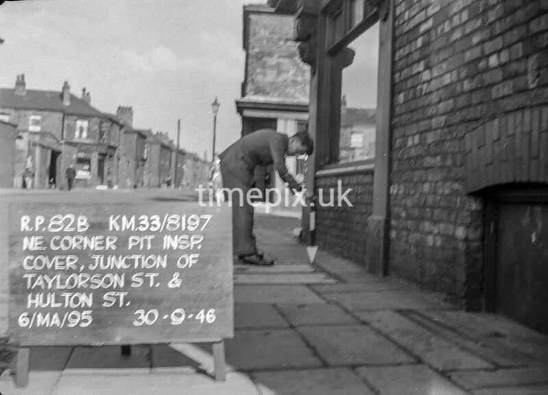 SJ819782B, Ordnance Survey Revision Point photograph in Greater Manchester
