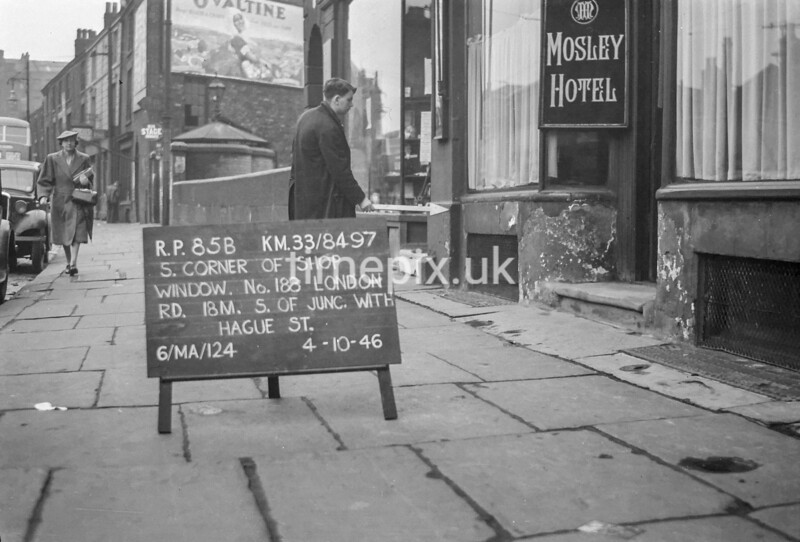 SJ849785B, Ordnance Survey Revision Point photograph in Greater Manchester