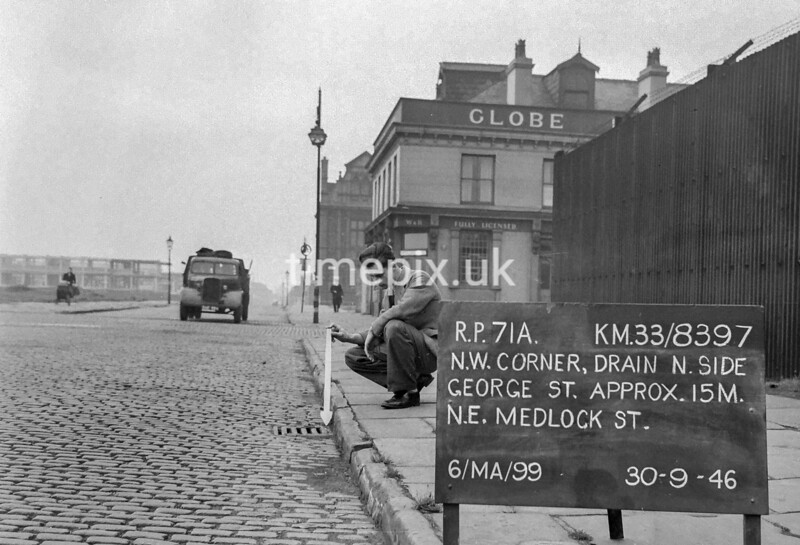 SJ839771A, Ordnance Survey Revision Point photograph in Greater Manchester
