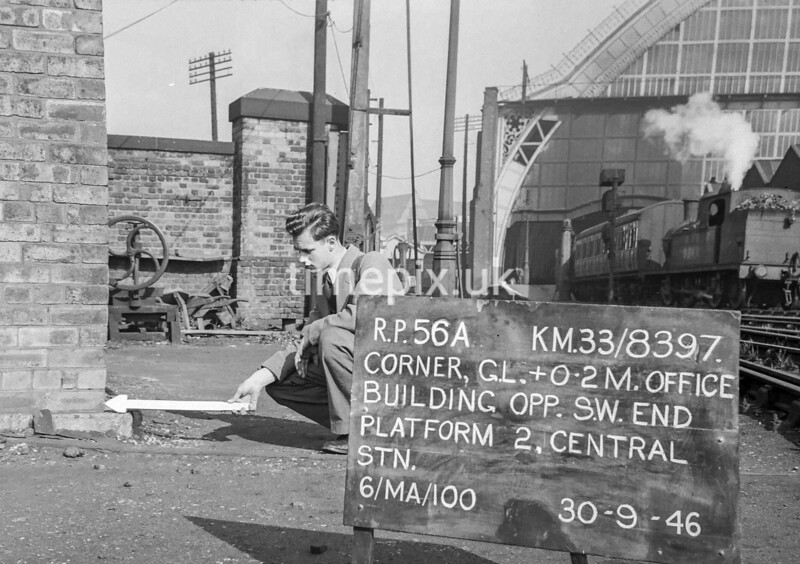 SJ839756A, Ordnance Survey Revision Point photograph in Greater Manchester