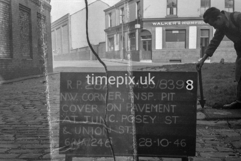 SJ839828A, Ordnance Survey Revision Point photograph in Greater Manchester
