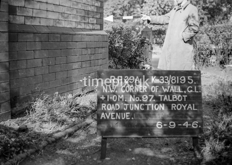 SJ819529A, Ordnance Survey Revision Point photograph in Greater Manchester