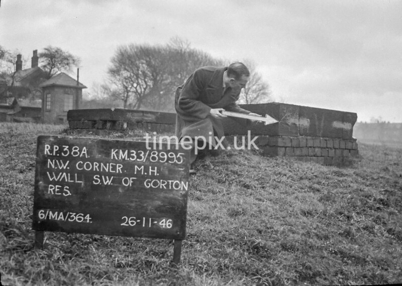 SJ899538A, Ordnance Survey Revision Point photograph in Greater Manchester